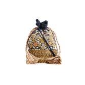 集刺繡、草編和抽繩三大夏季元素的 Cleobella Springs 籃式包袋