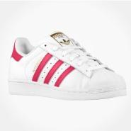 """凑单可享8折!Adidas Originals 三叶草""""superstar"""" 大童款运动鞋 粉色金标"""