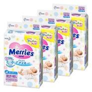 6.2折+家庭会员额外8.5折!【日本亚马逊】花王 Merries 腰贴式纸尿裤 60枚*4