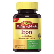 【美亚自营】Nature Made 铁质补铁片 180粒 孕期补血补气