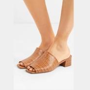 【初夏元素】By Far Scandi 仿鳄鱼纹皮革穆勒鞋