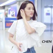 李沁最新街拍同款 3.1 Phillip Lim White Flamenco T-Shirt 白色T恤衫