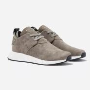 阿迪达斯 adidas Originals NMD C2 男士灰色麂皮运动鞋
