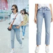 宋茜最新街拍同款 RE/DONE 学院风版型牛仔裤