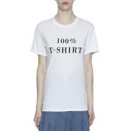 "KSENIA SCHNAIDER ""100% T-SHIRT""印花 T 恤"
