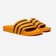 少见配色!adidas Original Adilette 黄色 男士拖鞋
