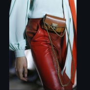 走秀款~Givenchy NANO GV3 LEATHER & SUEDE SHOULDER BAG 焦糖色小小号麂皮肩背包