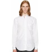 Thom Browne White Classic Point Collar Button-Down Shirt 男款白色衬衫
