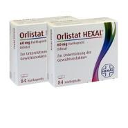 【满减9欧+免邮中国】Hexal Orlistat 奥利司他 控油瘦身硬胶囊 84粒*2盒装