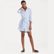 POLO RALPH LAUREN Striped Cotton Shirtdress 拉夫劳伦 条纹衬衫裙