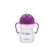 【2件8.9折】B.box 嬰幼兒重力球吸管杯 240ml 葡萄紫