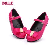 【單雙84.25元】Belle 百麗 韓版蝴蝶結方口鞋 4-12歲 37碼*2雙