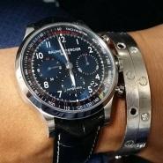 Baume & Mercier 名士 Capeland 系列 M0A10065 男士三眼计时自动机械腕表