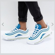 Nike Air Max 97 Ultra Trainers 耐克 蓝白配色 运动鞋