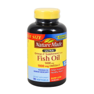 Nature Made Omega-3 深海鱼油胶囊1400mg 90粒