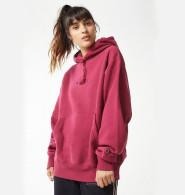 Champion & UO Reverse Weave Hoodie Sweatshirt 合作款 玫红色 帽衫