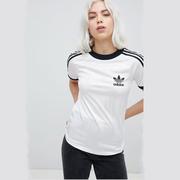 adidas Originals 阿迪達斯白色三條杠短袖