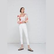北欧风格 ACNE STUDIOS Peg Denim 白色 紧身 牛仔裤