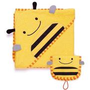 【2件9折+免郵中國】Skip Hop 連帽浴巾+手套套裝 蜜蜂
