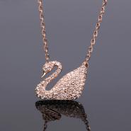 【满减100元】Swarovski 施华洛世奇 Swan 镀玫瑰金天鹅项链 5121597