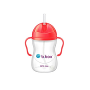 【3件額外8.9折+免郵】B.box 嬰幼兒重力球吸管杯 防漏 西瓜紅 240ml