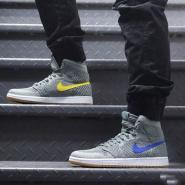 经典重塑!Nike 耐克 Air Jordan 1 Retro Hi Flyknit 复刻元年男士运动鞋
