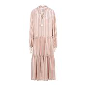 SEE BY CHLOé 粉色條紋長款連衣裙