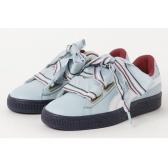 【碼數全】7折!PUMA 新款藍白配色蝴蝶結女鞋