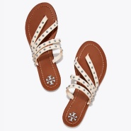 Tory Burch PATOS STUDDED FLAT SLIDE 沙滩鞋