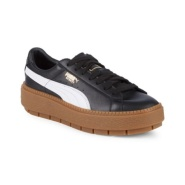 【大码福利】Puma 彪马 Low-Top Leather Platform Sneakers 女子运动鞋
