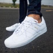 新人立减$5!adidas 阿迪达斯 Gazelle 男士麂皮复古板鞋小白鞋