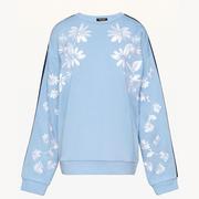 【折扣區新品】Juicy Couture 藍色印花裝飾天鵝絨衛衣
