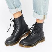 Dr Martens 黑色系帶馬丁靴