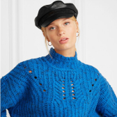 RAG & BONE 紋理皮革報童帽