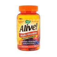 【额外8.9折+免直邮中国】Nature's Way Alive! 成人多种维生素软糖 水果味 90粒
