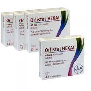 【买三赠一】Hexal Orlistat 奥利司他 控油瘦身硬胶囊 84粒*3盒+60mg 消脂减肥胶囊 42粒