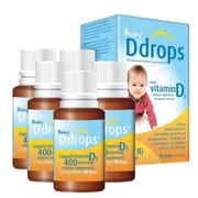 【單件直郵到手86元】限量補貨!Ddrops 嬰兒維生素D3滴劑 400IU 90滴*5瓶裝