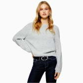 Topshop Super Soft 灰色毛衣