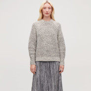 COS  灰色针织毛衣