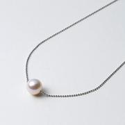 日本免郵!Maria 阿古屋花珠 S925銀鏈 珍珠項鏈 45cm