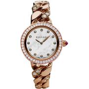 珠寶和腕表的完美結合~Bulgari 寶格麗 Catene 系列 奢華18K玫瑰金鑲鉆女士腕表 102037