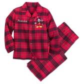 Disney 迪士尼 米奇格子男童分體睡衣