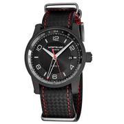 3折!Montblanc 萬寶龍 Timewalker 系列 限量版黑紅圓盤男士自動腕表 115360