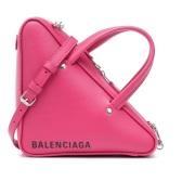 BALENCIAGA 玫粉色三角包包