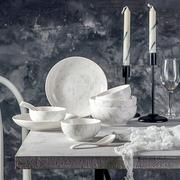 【滿199-100元】考拉工廠店 北歐大理石陶瓷餐具 12件套裝