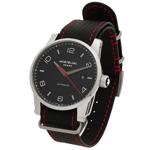 Montblanc 萬寶龍 Timewalker 系列 限量版黑色圓盤男士休閑腕表 115361