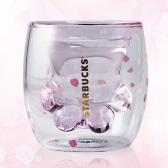 3000個即將開搶!【天貓新品發售】Starbucks 星巴克 粉色貓爪雙層玻璃杯