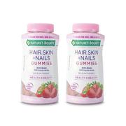 【包郵裝】Nature's Bounty 自然之寶 頭發皮膚指甲膠原蛋白軟糖 230粒*2瓶