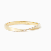 限時高返!Kate Spade 凱特·絲蓓 Do the Twist Pave Hinged Bangle 12k金手鐲