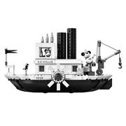 迪士尼米奇90周年新品上市!Lego 樂高 Ideas 系列 威利號蒸汽船 21317